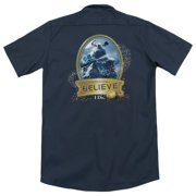 Polar Express True Believer (Back Print) Mens Work Shirt