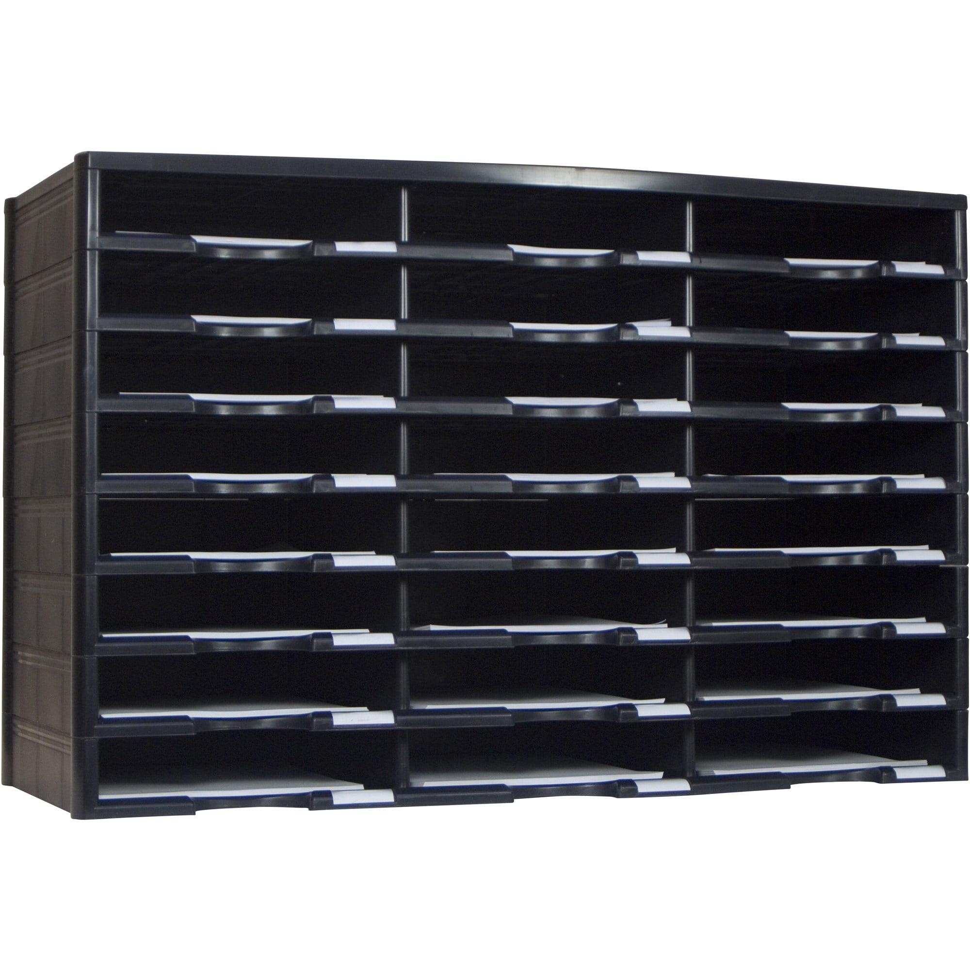 Storex Black 24-Compartment Literature Organizer by Overstock