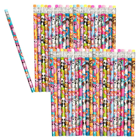 Ty (48 Pack) Beanie Boos Number 2 Pencils Assorted Fun Cute Beanie Babies Characters School Supplies](Cute School Supplies Online)