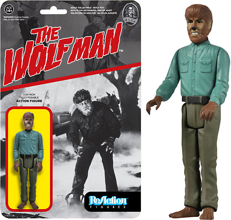 Funko Universal Monsters ReAction Wolfman Action Figure 4162