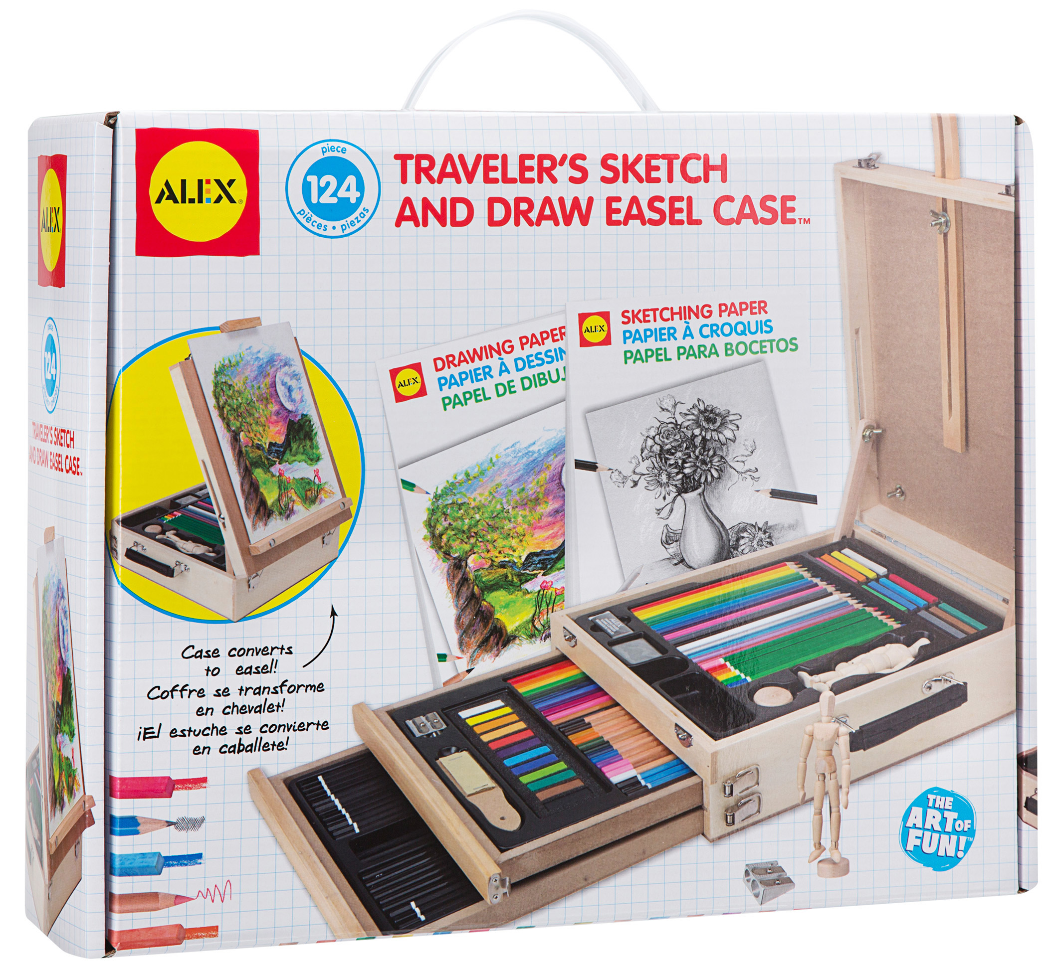 ALEX Toys Artist Studio Traveler's Sketch and Draw Easel Case by Alex Brands