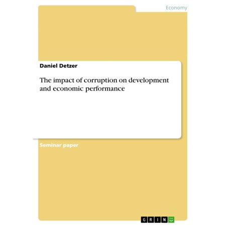 The impact of corruption on development and economic performance - eBook - Economic Impact Of Halloween