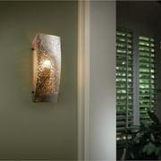 Justice Design  Group Fusion Finials 1-light Dark Bronze ADA Wall Sconce, Rectangle  Mercury Shade