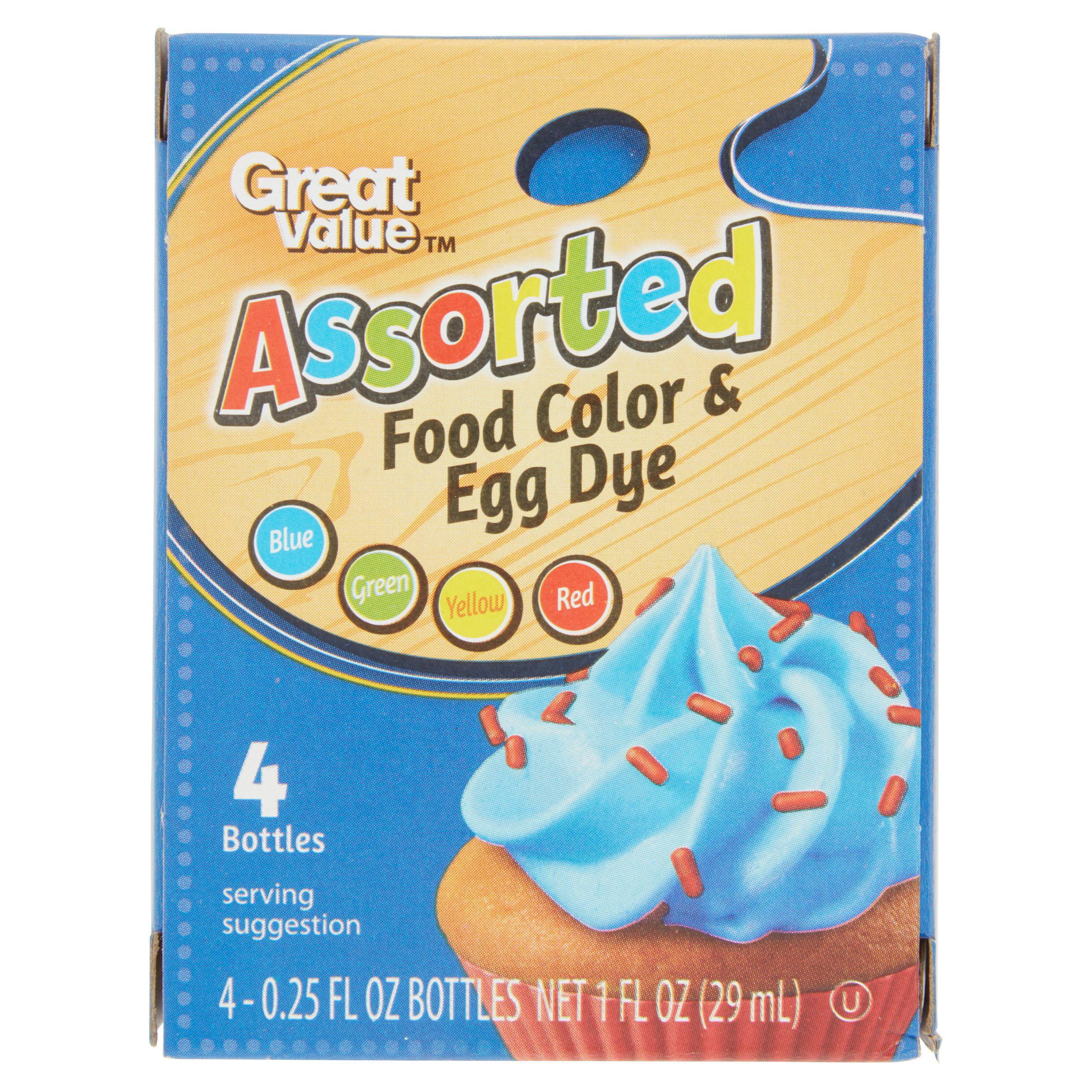Great Value Assorted Food Color & Egg Dye, 1 oz - Walmart.com