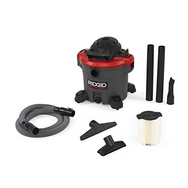 Ridgid 632-50323 Wet & Dry Vacuum, Red - 12 Gallon