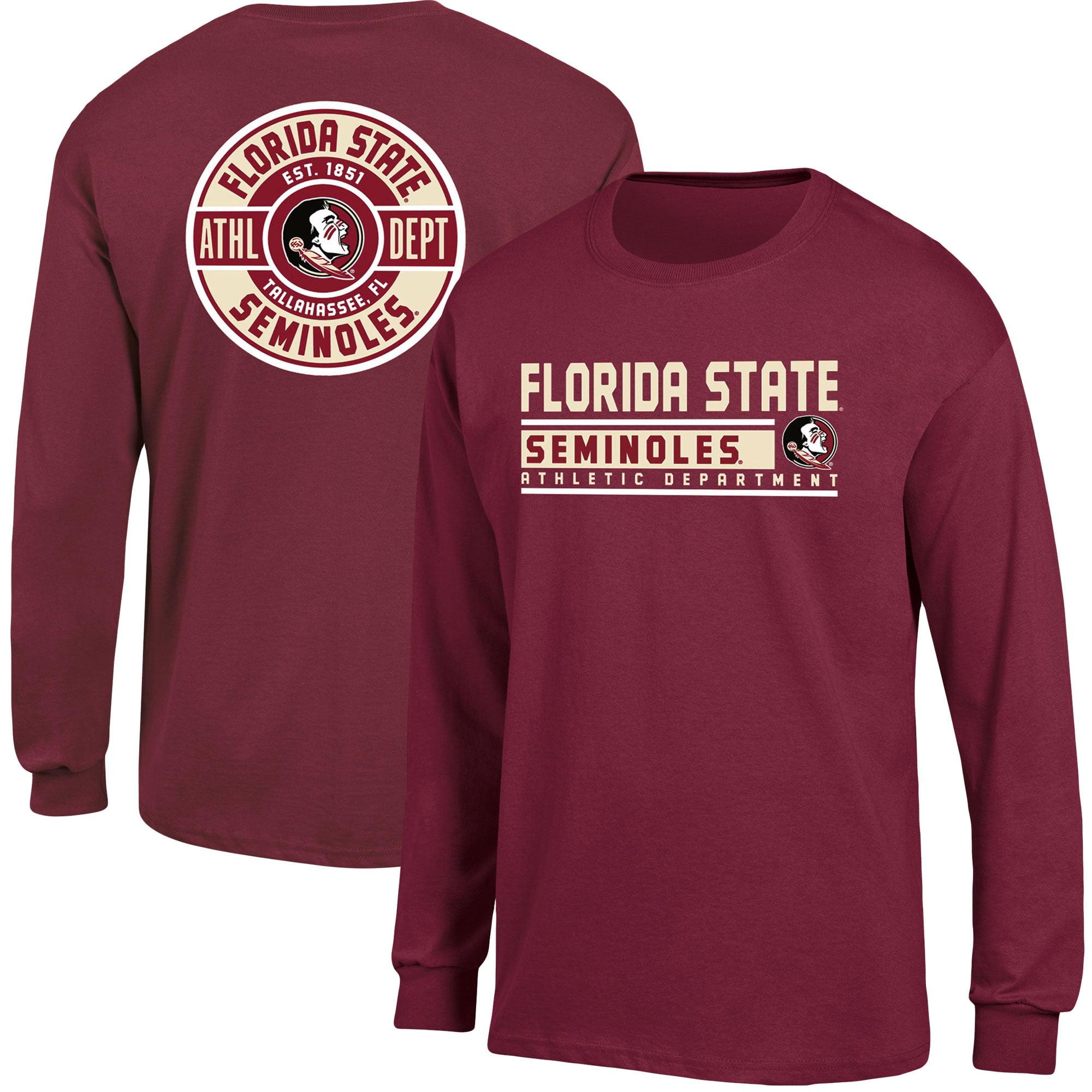 Men's Russell Garnet Florida State Seminoles Back Hit Long Sleeve T-Shirt