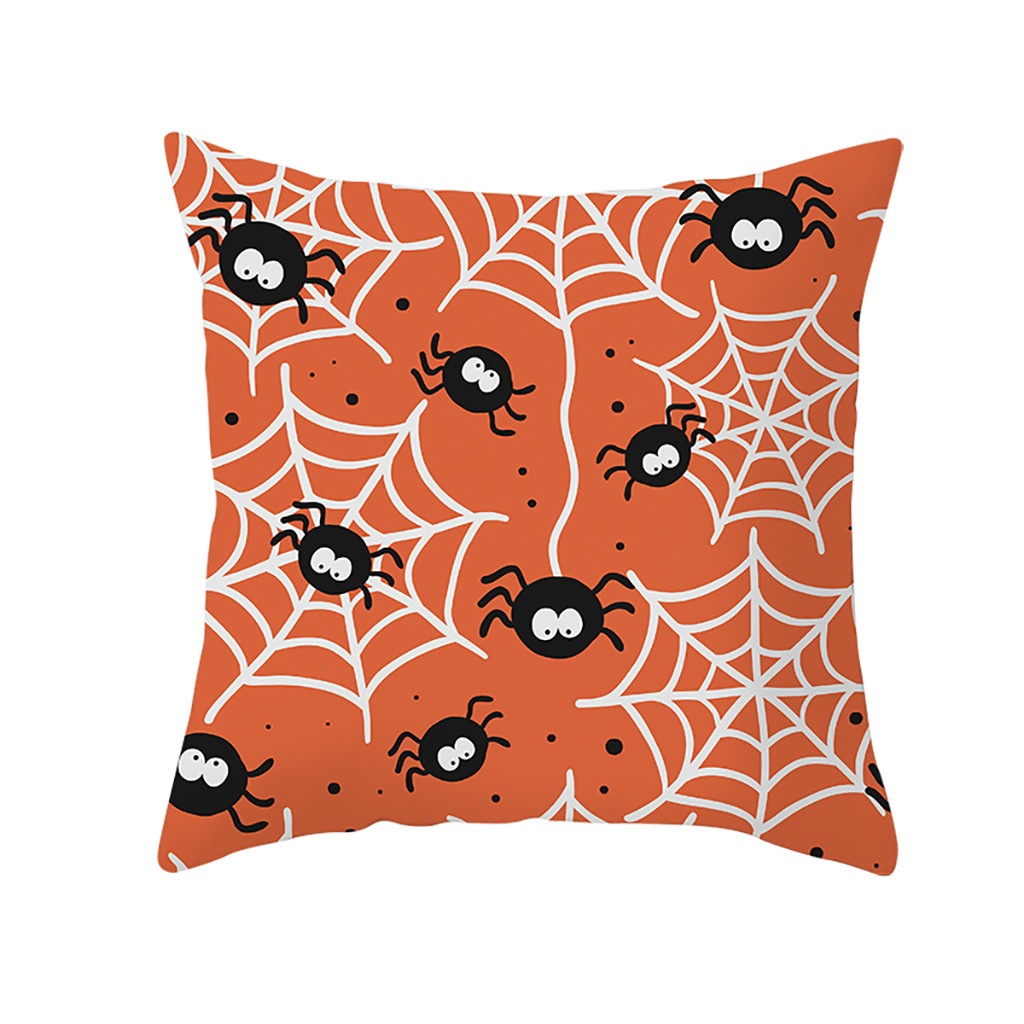 Halloween Ghost Witch Pumpkin Throw Pillow Case Magical Cat Bed Cushion Cover US