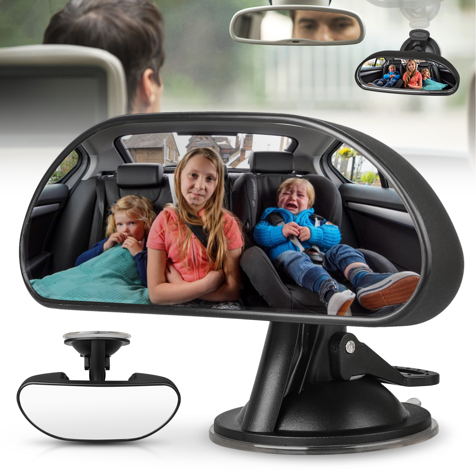 Mini Small Driving Instructor Interior Suction Rear View Mirror Fast Dispatch