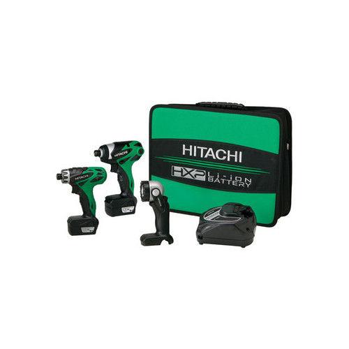 Hitachi KC10DAL HXP 10.8V Cordless Lithium-Ion 3-Tool Combo Kit by Hitachi