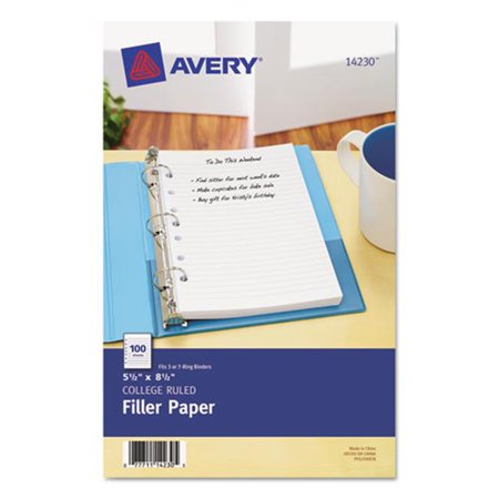 Avery-Dennison 14230 Mini Binder Filler Paper