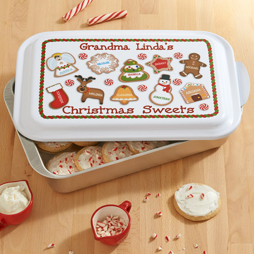 Personalized Christmas Sweets Cake Pan