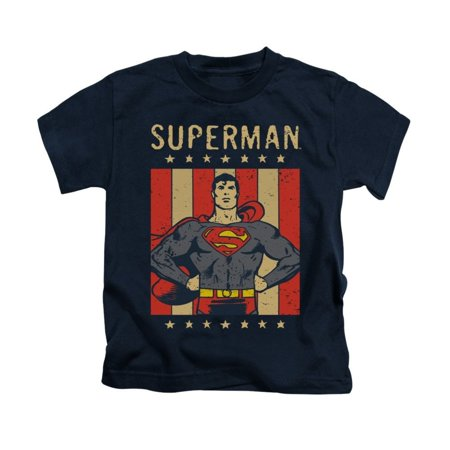 Dc - Retro Liberty Kids T-Shirt - Kids T-Shirt (Ages 4-7) / 5/6 / Navy](Girl M&m)