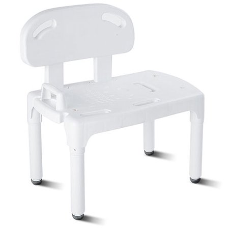Carex Universal Bath Transfer Bench, Left or Right Entry, 400 lb ...