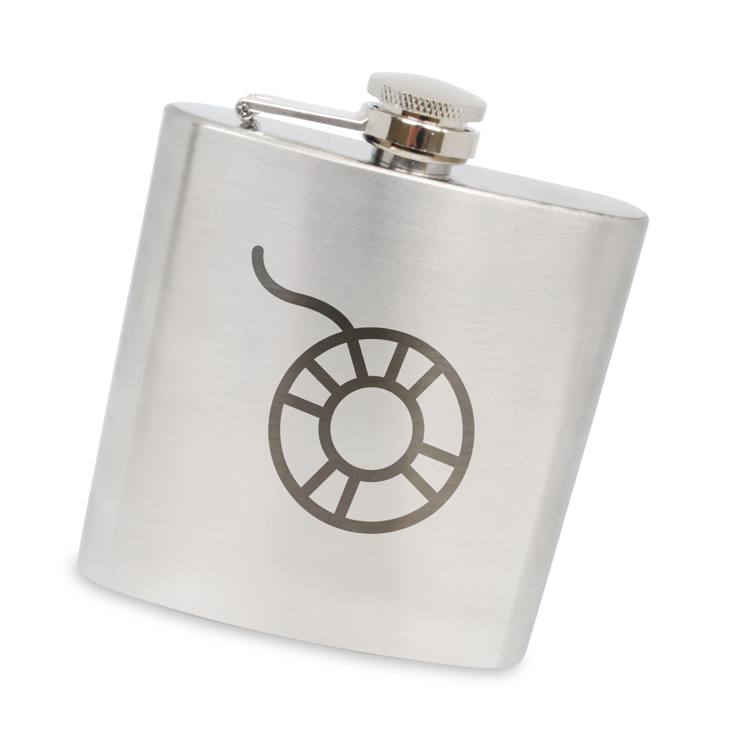 Preserver Stainless Steel 6 Oz Flask. Made In The Usa.