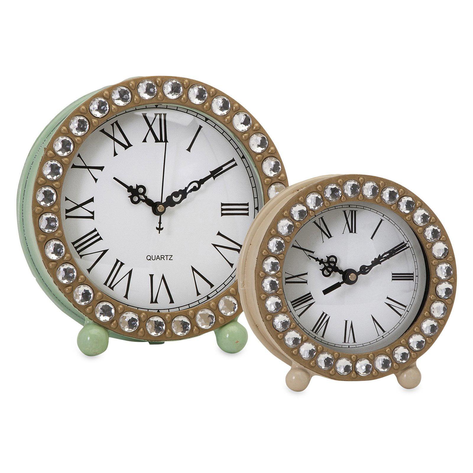 Imax 88675 Jeweled Small Clock Walmart Com