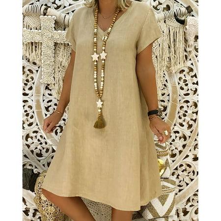 Women Summer Style Feminino Vestido T-shirt Cotton Casual Plus Size Ladies Dress - Vestito Halloween
