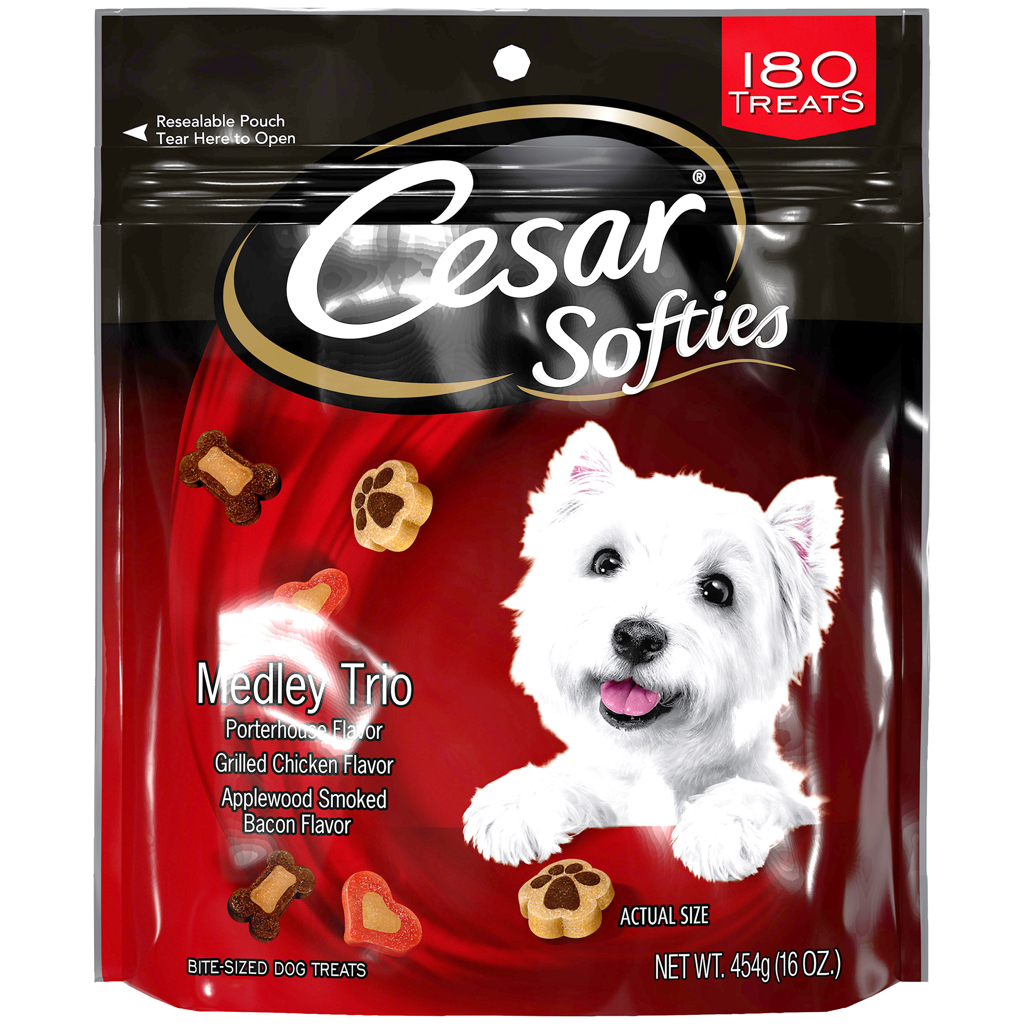 Click here to buy CESAR SOFTIES Medley Trio Dog Treats 16 oz. by Mars Petcare.