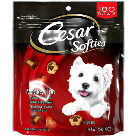 Cesar Softies Dog Treats Medley Trio, 16 oz. Pouch (180 Treats)