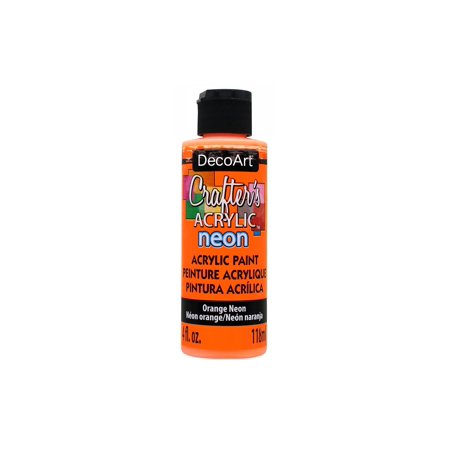 Decoart Crafter's Acrylic Paint 4oz Neon Orange - Neon Splatter Paint