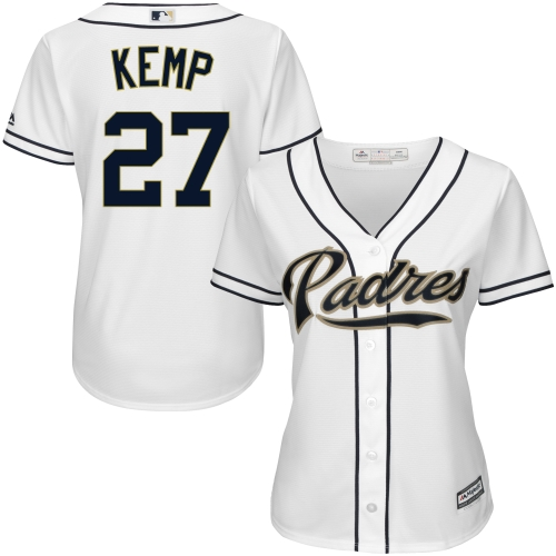 Matt Kemp San Diego Padres Majestic Women's Cool Base Player Jersey White by MAJESTIC LSG