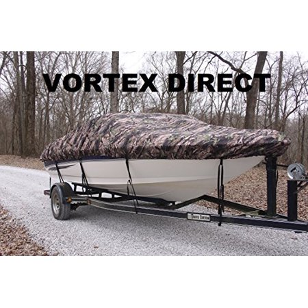 NEW Vortex Heavy Duty *CAMO / CAMOUFLAGE* Vhull Fish Ski Runabout Cover for 16 - 17 1/2 ' Boat (FAST SHIPPING - 1 TO 4 BUSINESS DAY DELIVERY)