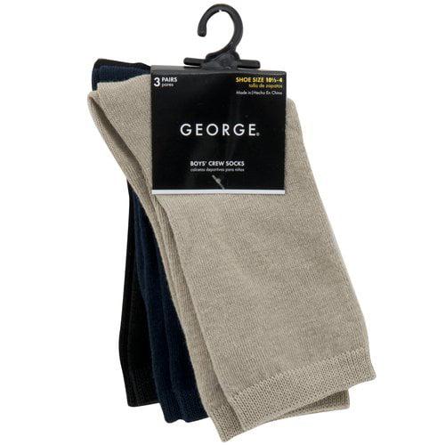 Boys' Assorted Crew Socks, 3-Pack