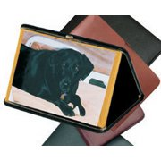 """Budd Leather 551856-30 Portable 4"""" X 6"""" Framed Photo Case Green"""