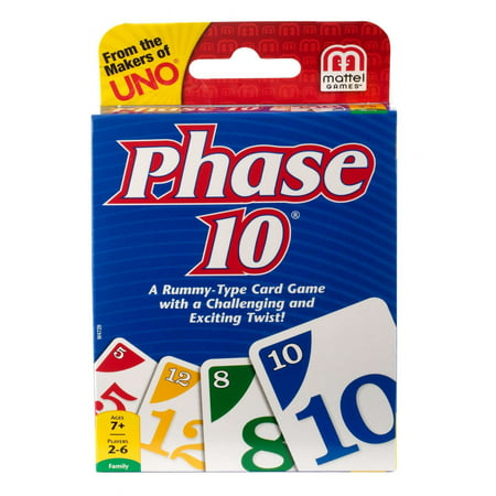 Phase 10 Challenging & Exciting Card Game for 2-6 Players Ages 7Y+ (Cars Game)