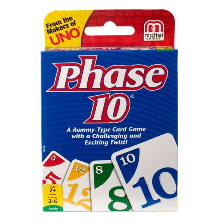 Phase 10 Challenging & Exciting Card Game for 2-6 Players Ages (Deer In The Headlights Card Game Rules)