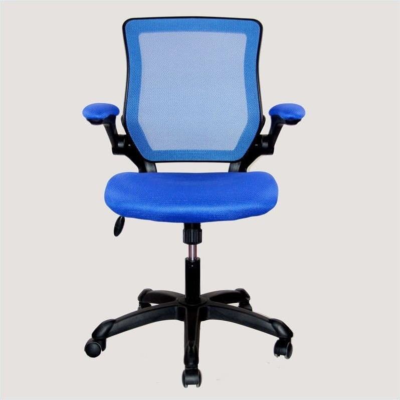 Kingfisher Lane Mesh Task Office Chair in Blue