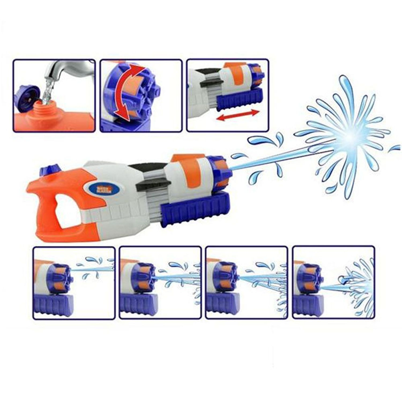 "17.3"" High Pressure Water Gun Power Pump Blaster Summer Beach Toys (White)"