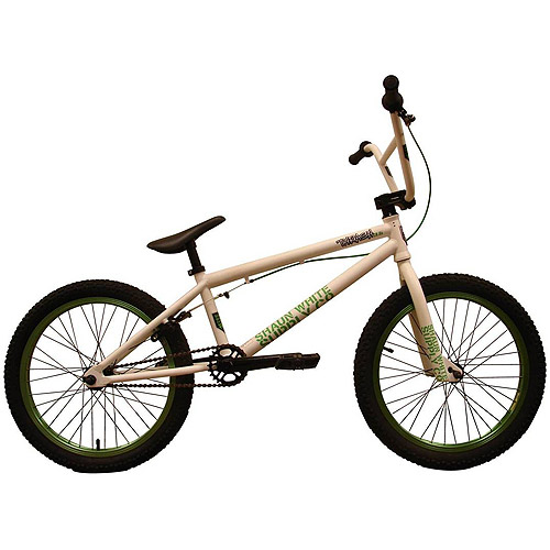 "20"" Shaun White Supply Co. Thrash 3.5 Boys' BMX Bike, White/Kelly Green"