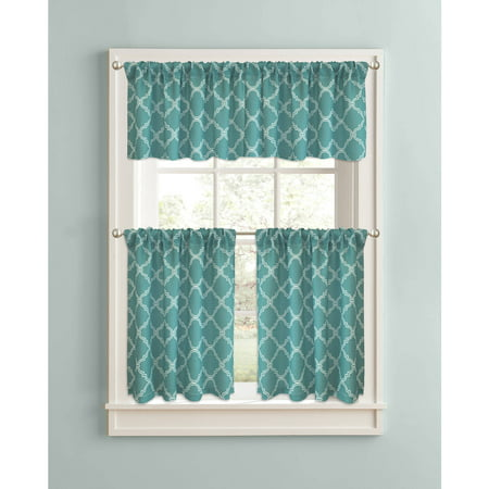 Better Homes Gardens Trellis Kitchen Curtains Set Of 2