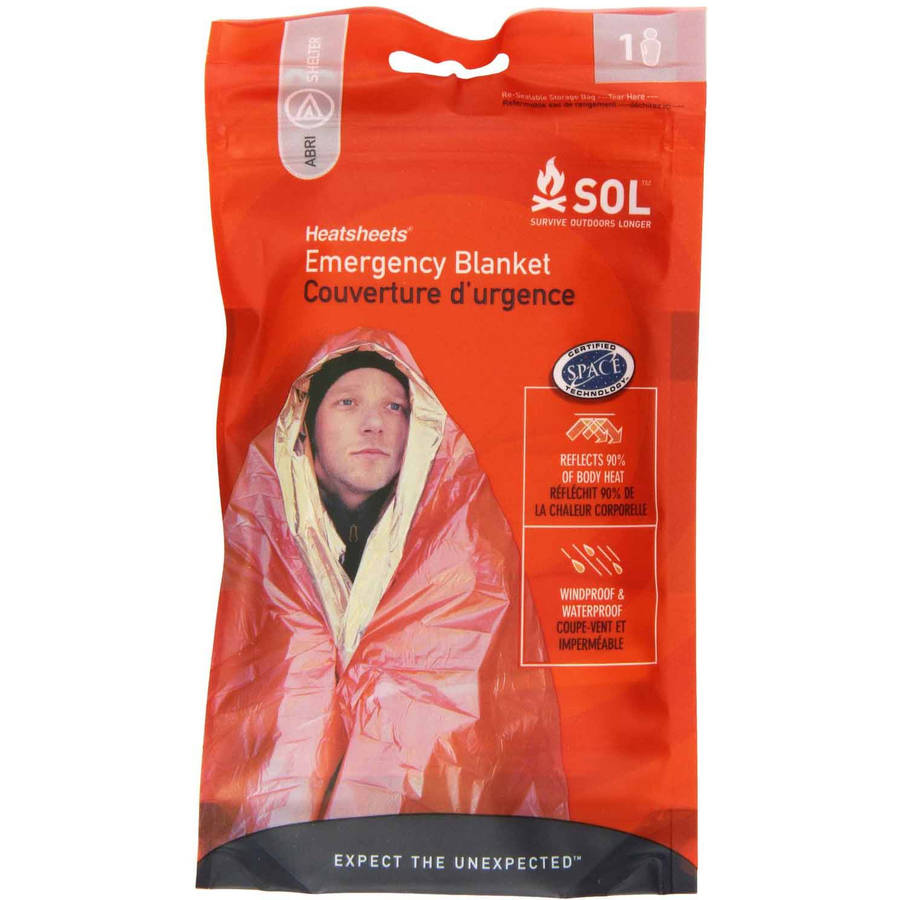 Click here to buy Survive Outdoors Longer Emergency Blanket, 1 Person by Tender Corporation.