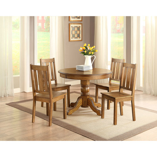 Better Homes and Gardens Cambridge 5-Piece Dining Set, Honey