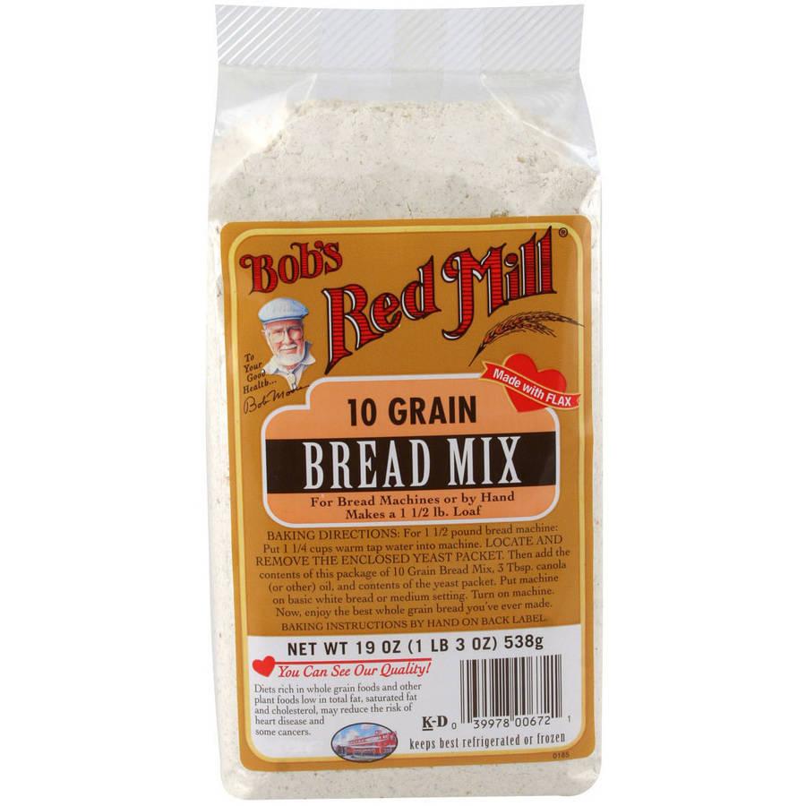 Bob's Red Mill, 10 Grain Bread Mix, 19 oz (Pack of 4)