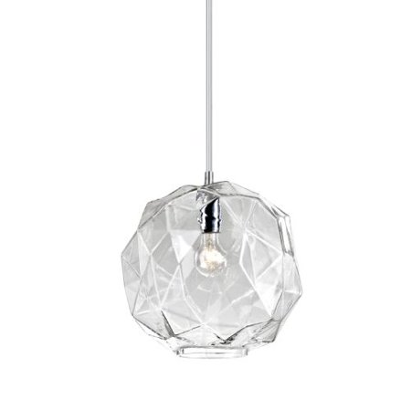 Eurofase Lighting Crystal Sconce - Eurofase Lighting 26249 Studio 1 Light Pendant with Chiselled Faceted Glass