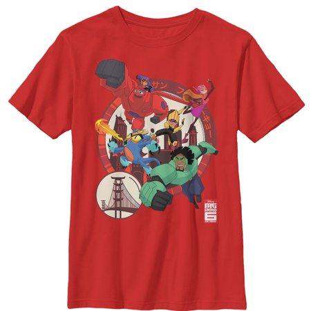 Big Hero 6 Boys' Hero Team Circle T-Shirt - Big Hero 6 Boy