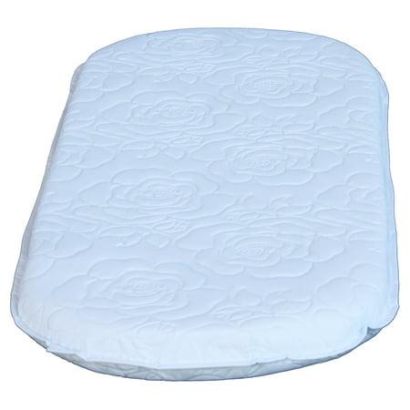 - Colgate Bassinet Oval Mattress - White