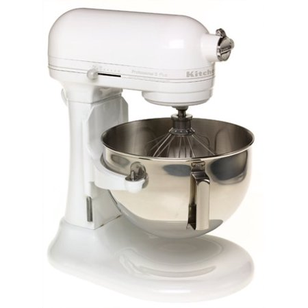 Professional 5 Plus Series Bowl - KitchenAid RKV25G0XWW Professional 5 Plus Series Stand Mixers - White on White (CERTIFIED REFURBISHED)