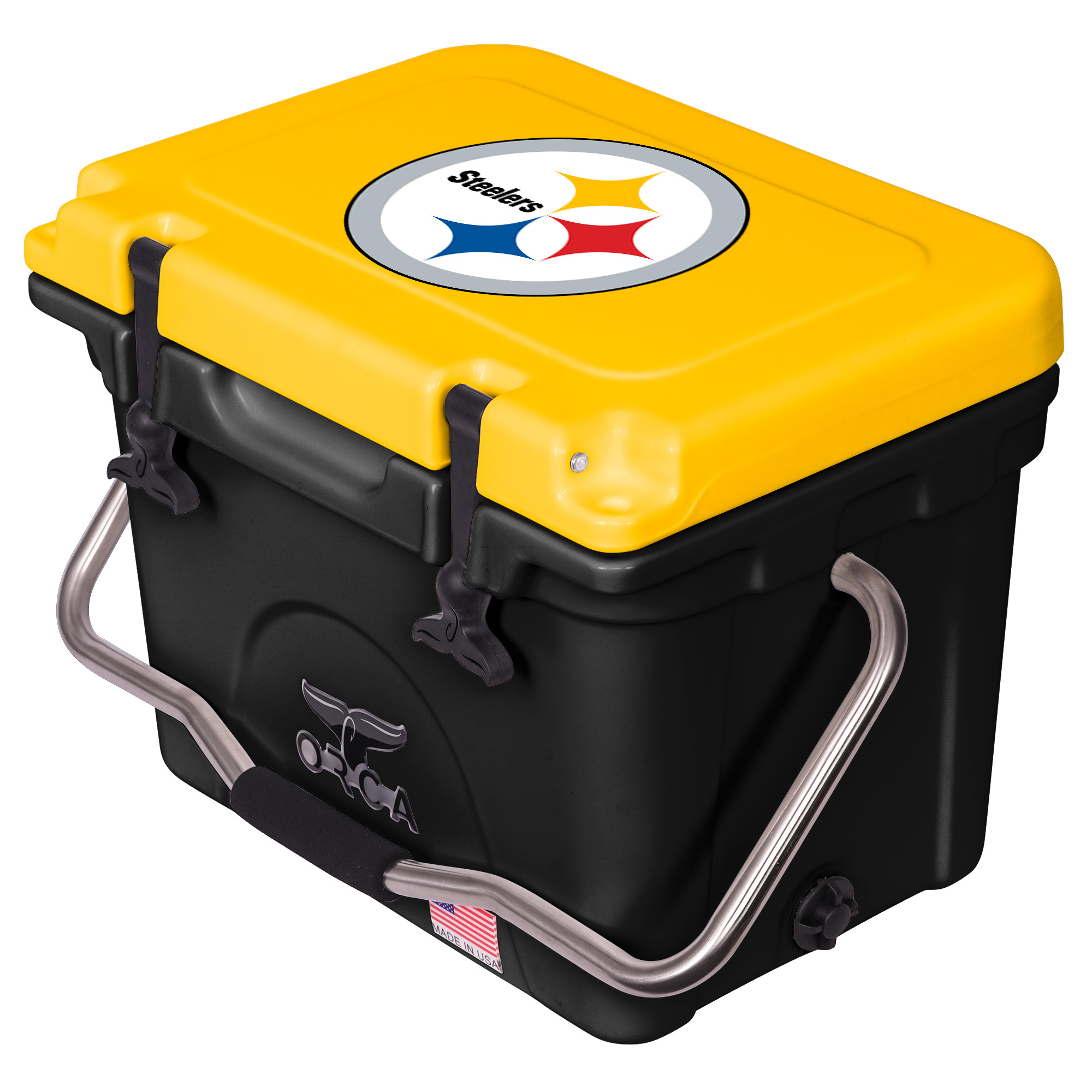 Pittsburgh Steelers ORCA 20-Quart Hard-Sided Cooler - Black/Gold - No Size