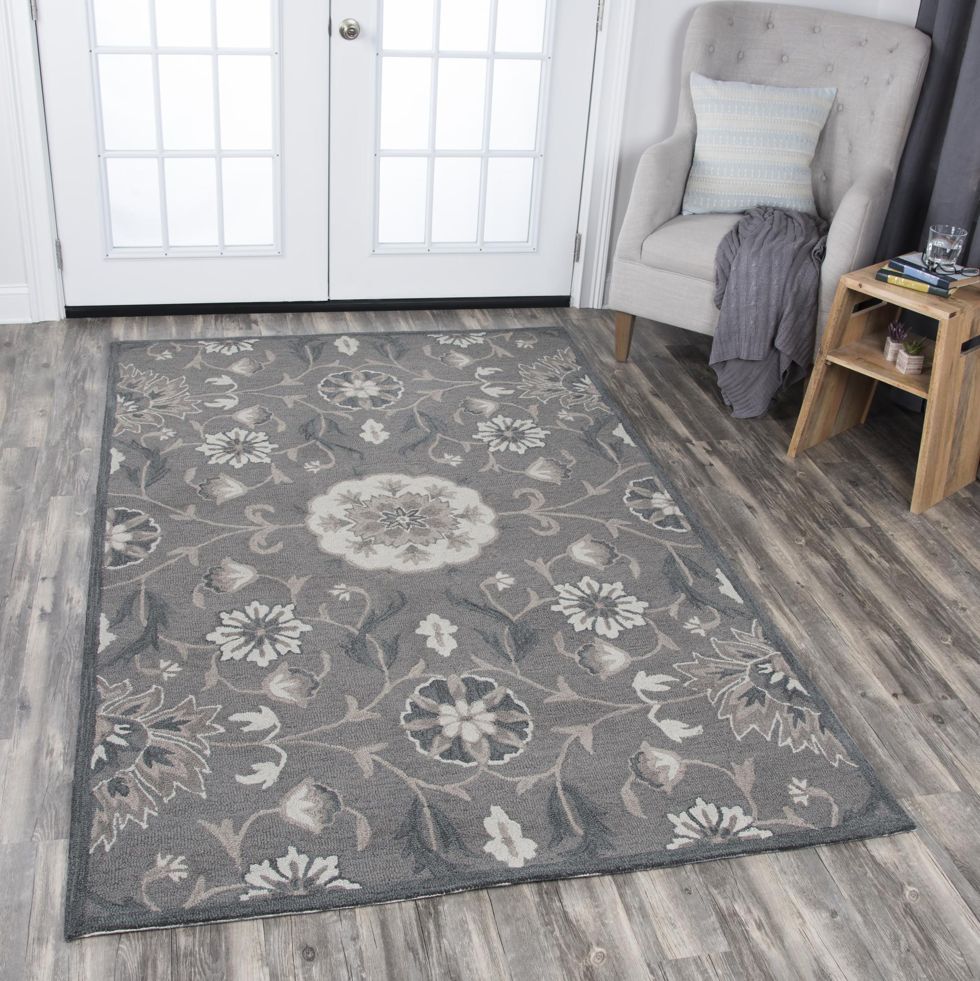 Rizzy Home RS914A Dark Taupe 8' x 10' Hand-Tufted Area Rug