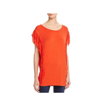 Interstate Womens Fringe (POL Womens Fringe Cap Sleeve Casual Top )