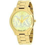 Michael Kors Women's Slim Runway Gold-Tone Watch, MK3590