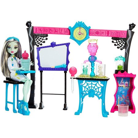 Monster High Skulltimate Science Class Playset with Doll - Catty Monster High