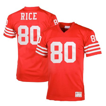 Jerry Rice San Francisco 49ers Mitchell & Ness Big & Tall 1990 Retired Player Replica Jersey - Scarlet - Jerry Rice Football Jersey