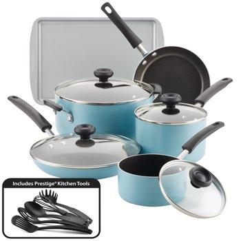 Farberware15-Piece Aluminum Nonstick Pots and Pans Set