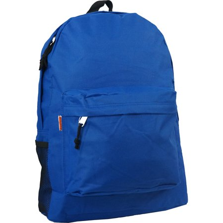 Case Lot 30pc Classic 18in Basic Backpack Simple School Book Bag Padded Back Side Pocket,