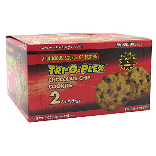 Chef Jays - Tri-O-Plex Cookies - 12 per Box (85g each) - Chocolate Chip