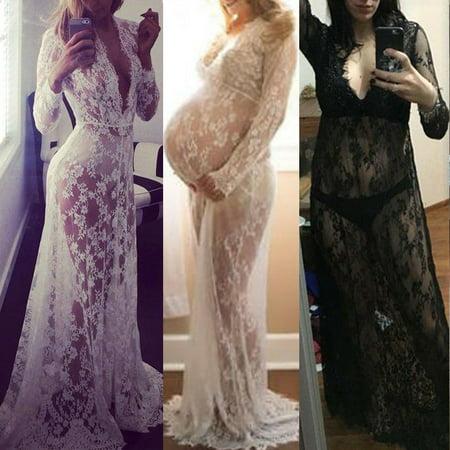 Fancy Dress Pairs (Multitrust Maternity Lace Dress Pregnant Photography Photo Props Fancy Women Dress)